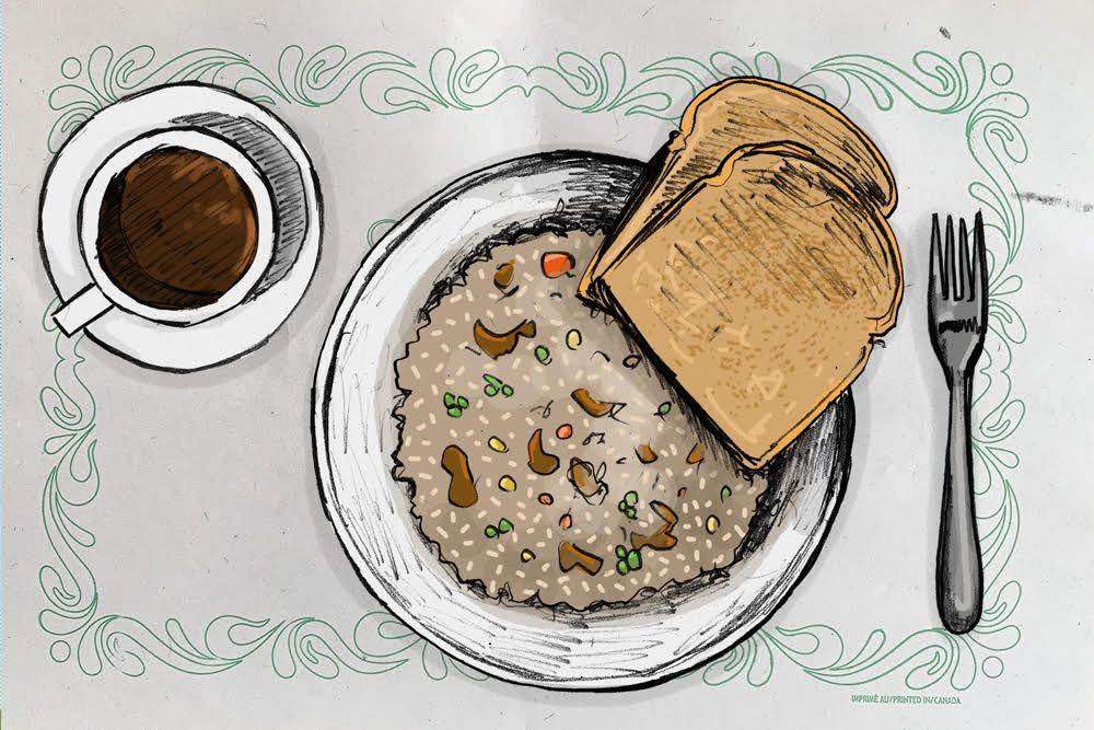 Riz frit de Rouyn-Noranda