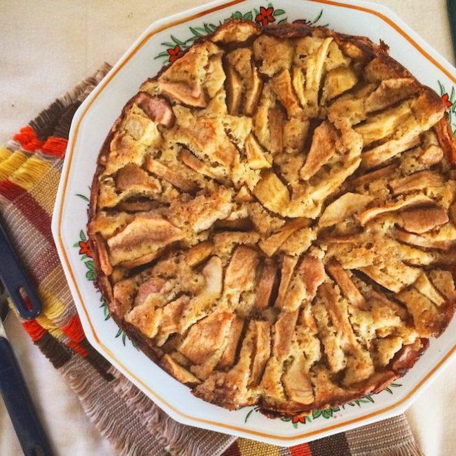 recette de gâteau aux pommes et à l'érable