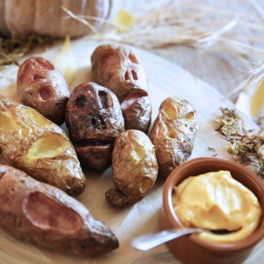 Patates d'Halloween et mayo à la courge épicée